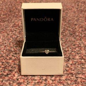 Pandora Clear Heart Beaded Ring